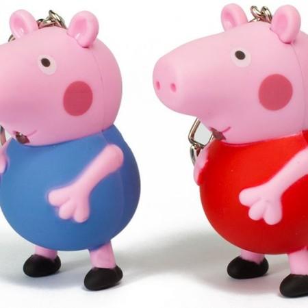 СВЕТЕЩИ КЛЮЧОДЪРЖАТЕЛИ PEPPA PIG - ПЕПА ПРАСЕТО 24 БР. В КУТИЯ