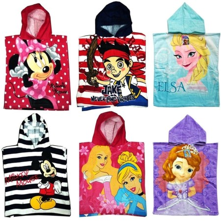 BEACH-PONCHO-MINNIE-MICKEY-JAKE-PRINCESS-FROZEN